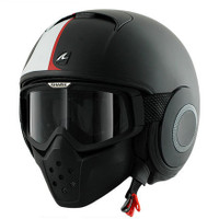 Shark Raw Stripe Helmet Black