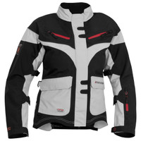 Firstgear TPG Monarch Womens Jacket Silver Front Side View