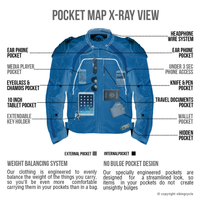 Viking Cycle Overlord Textile Motorcycle Jacket for Men X-Ray View