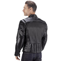 Viking Cycle Warrior 2.0 Leather Motorcycle Jacket Back View