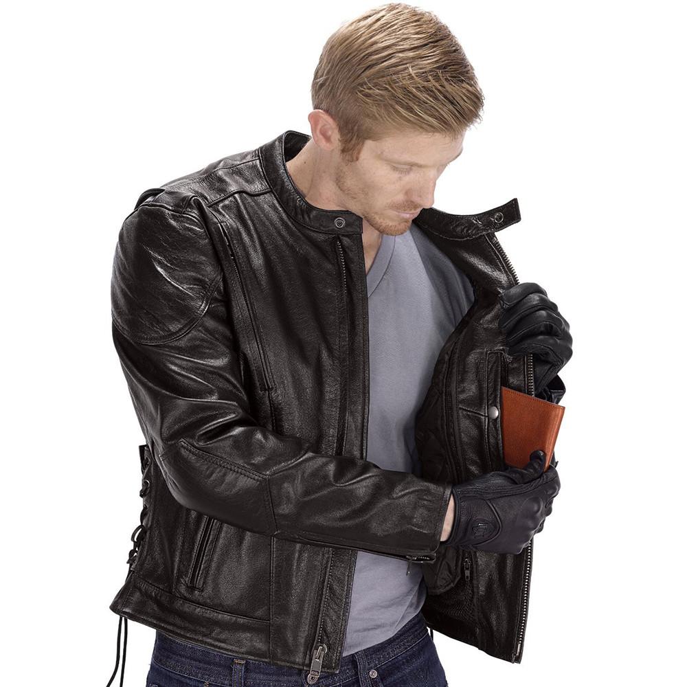 ... Viking Cycle Warrior Motorcycle Jacket for Men Inside Pocket View ...