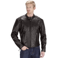 Viking Cycle Warrior Motorcycle Jacket for Men Front Side View