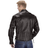 Viking Cycle Warrior Motorcycle Jacket for Men Back Side View