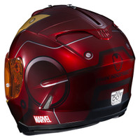 HJC IS-17 Iron Man Helmet Red 4