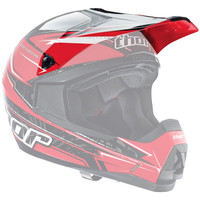 Thor Quadrant Stripe Helmet Visor Red