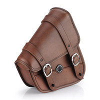 Sportster Specific Brown Motorcycle Swing Arm Bag 3