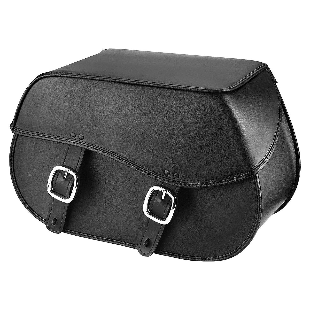 Nomad usa large leather throw over motorcycle saddlebags for Motor cycle saddle bags