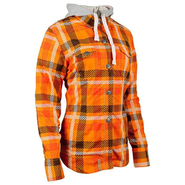 Speed and Strength True Romance Women's Armored Moto Shirt Orange 1