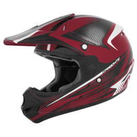 Cyber UX-23 Carbonite Helmet Black /Red