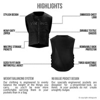 Viking Cycle Warhawk Armored Textile Vest Highlights