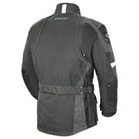 Joe Rocket Ballistic Revolution Textile Jacket Gray Back Side View