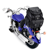 Vikingbags Leather Backrest Motorcycle Bag On Bike View