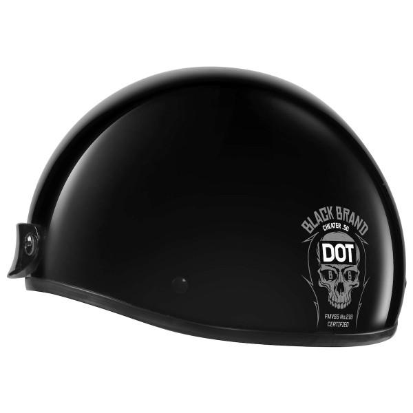 Black Brand Cheater .50 Helmet Black