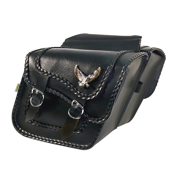 Willie & Max Black Magic Series Compact Slant Saddlebags