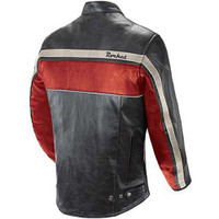 Joe Rocket Old School Jacket Red Back Side View