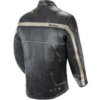 Joe Rocket Old School Jacket Black Back Side View
