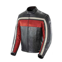 Joe Rocket Old School Jacket Red Front Side View