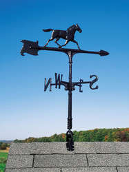 "30"" Horse Accent Weathervane - Black"