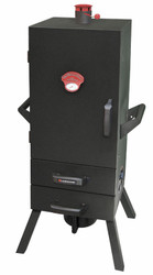"34"" Charcoal Two Drawer Vertical Smoker"
