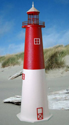 Barnegat E-Line Stucco Lighthouse (4')