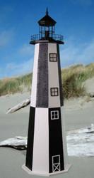 Cape Henry E-Line Stucco Lighthouse 3' High
