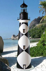 Cape Lookout Stucco Lighthouse (12')