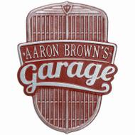 Car Grille Garage Wall Plaque ( 1 Line)