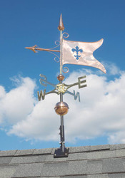 Copper Banner Weathervane - Polished