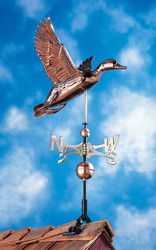 Copper Duck Weathervane - Polished