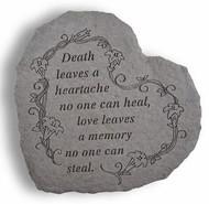 Death Leaves a Heartache Memorial Garden Stone