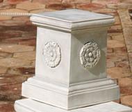 """English Rosette Garden Sculptural Plinth (13""""H)"""