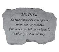 Family Member No Farewell Words Memorial Stone