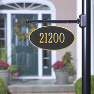 Hanging Address Plaque, 2-Sided Oval (1 Line)