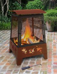 Haywood Tree Leaves Fireplace