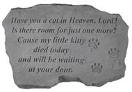 Cat In Heaven Pet Memorial Stone