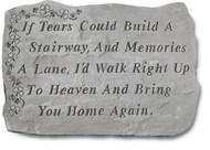 If Tears w/ Shamrocks Memorial Stone