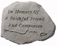 Faithful Friend Pet Memorial Stone