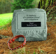 Personalized Faithful Friend Memorial Stone With Urn