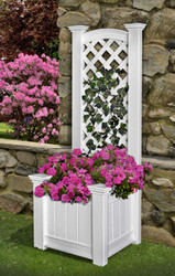 Kensington Vinyl Planter Box w/ Trellis