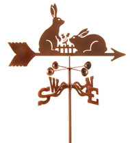 Rabbits w/ Fence Weathervane