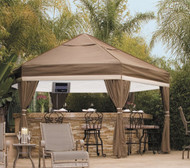 Luxe Hexagon 16' Pavilion with Sidewalls