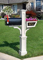 Mailbox Planter Address Plaque