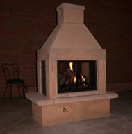 Mirage Stone Outdoor Open Gas Fireplace (Sandstone)