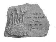 Mothers Plant The Seed...w/Lavender Garden Stone