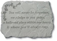 Never Be Forgotten Memorial Stone
