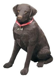 "Sandicast Chocolate Labrador Retriever Statue (27""H)"