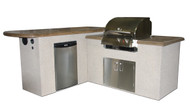 """St. Anthony """"L"""" Shaped Outdoor Kitchen"""