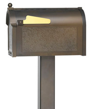 Standard Cast Aluminum Mailbox Post