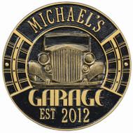 Vintage Car Garage Plaque (Personalize 2 lines)