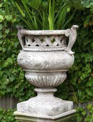 Weave Top Garden Urn